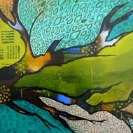 Heather Carr painting 2012 art branch Klimt abstract