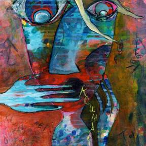 Painting Heather Carr art nightmare screaming hand mouth