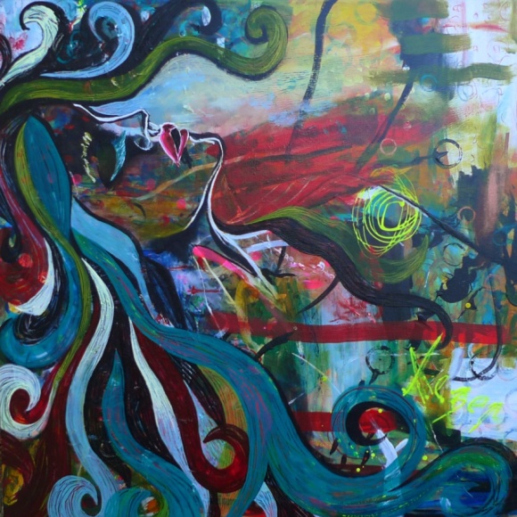 Painting Heather Carr Art woman ecstasy