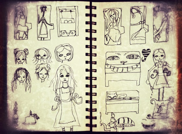 Heather Carr sketches 2012