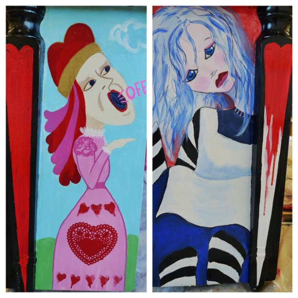 Heather Carr Alice in Wonderland street art piano Shoreline painting