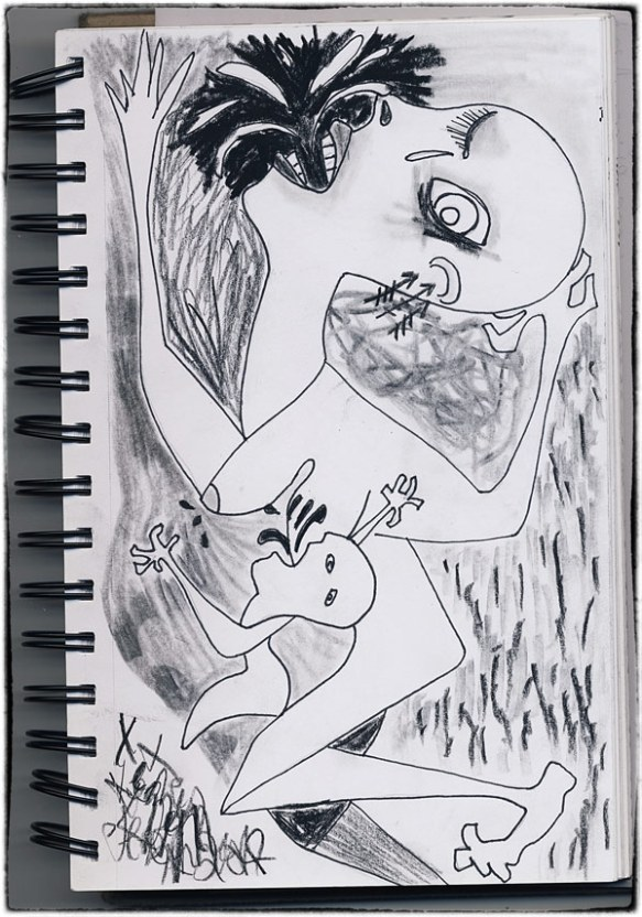 Heather Carr sketch drawing Picasso pen charcoal