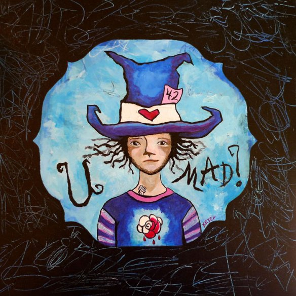 Heather Carr Mad Hatter Alice in Wonderland painting art illustration