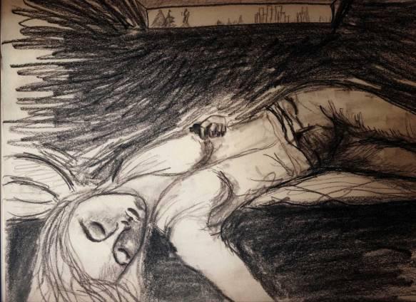 pencil sketch Heather Carr