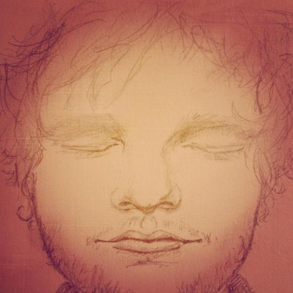 pencil drawing ed sheeran fan art